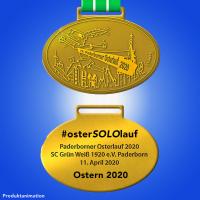 Osterlauf Medaille 2020 #osterSOLOlauf